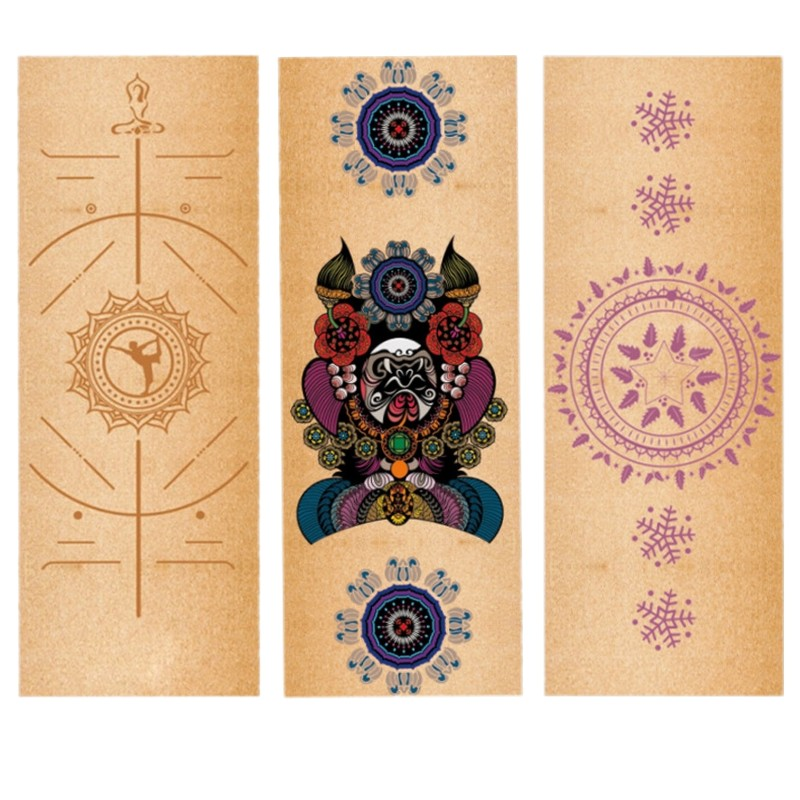 High-density Natural Rubber cork Yoga Mat 5mm Tasteless Non-slip Yoga Mat Lose Weight Body Building Exercise Pilates Pad