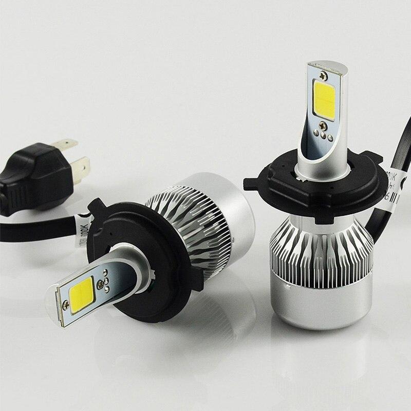 ФОТО H4 led Car headlight lamp  7600LM 72w COB car H4 led hi lo headlight 9003 HB2 led headlight bulb  For cars LED Fog Day Light