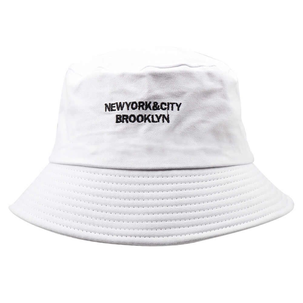 08315764bae Men Cotton Bucket Hats For Women Plain Embroidery Letter Caps Fashion  Street Hip Hop Cap Sunscreen