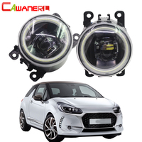 Cawanerl Car Accessories 4000LM LED Lamp Fog Light Angel Eye DRL Daytime Running Light H11 12V For Citroen DS3 2009 2018