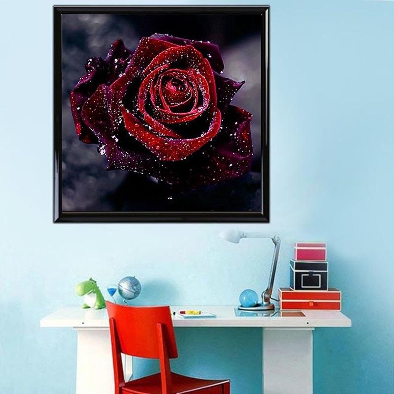 Teemantide tikandid 5D lille teemantide ristpistes kristalliga - Kunst, käsitöö ja õmblemine - Foto 2