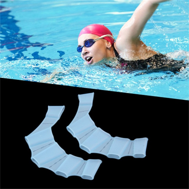 1pcs Unisex Frog Type Silicone Girdles Swimming Hand Fins Flippers Palm Finger Webbed Gloves Paddle Water Sports S/M/L 5