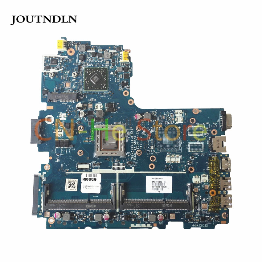 JOUTNDLN FOR <font><b>Hp</b></font> Probook <font><b>455</b></font> G2 Laptop <font><b>Motherboard</b></font> ZPL45 55 LA-B191P 773075-601 773075-001 w/ for A10-7300 cpu image