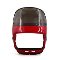 Uxcell Red ABS Plastic Motorcycle Front Headlight Cover Visor Fairing Mask for GS125