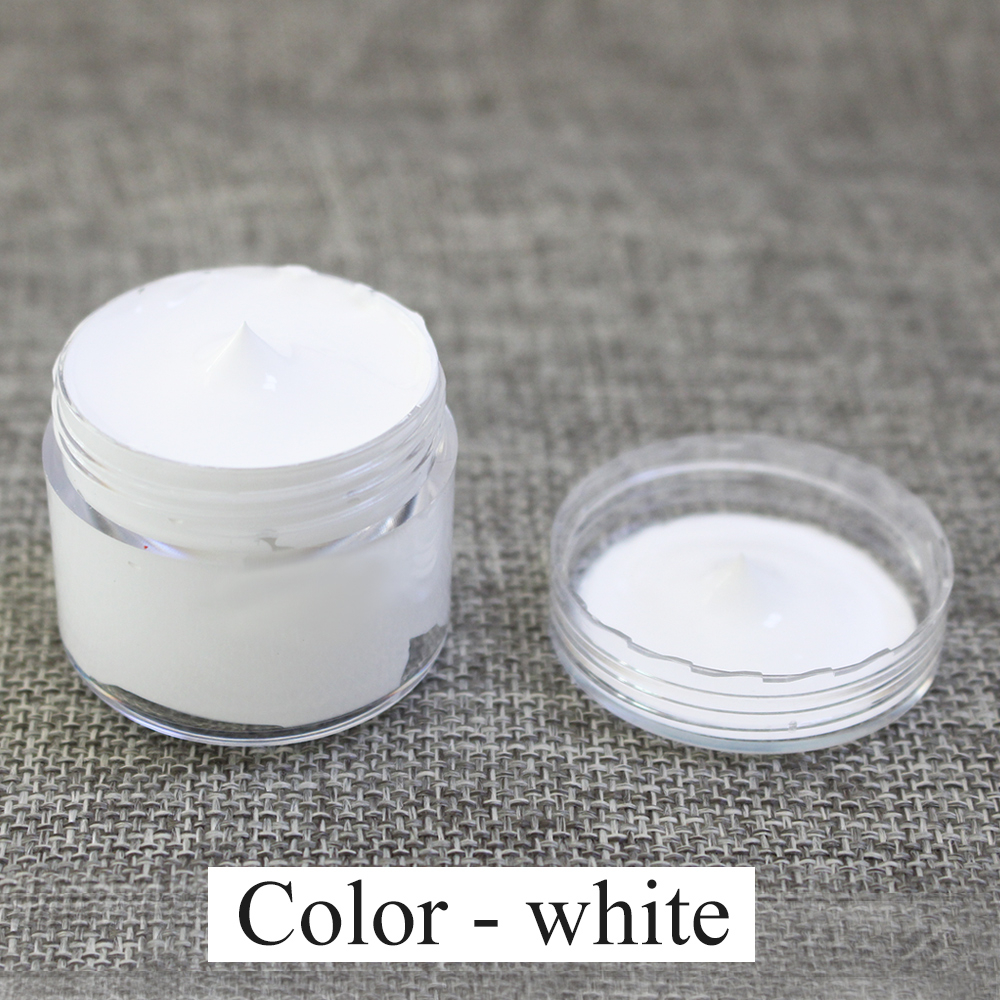 White Leather Paint Specially Used for Painting Leather Sofa, Bags, Shoes and Clothes Etc with Good Effect,30ml Free Shipping