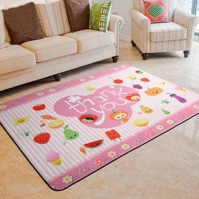 Tapis de bande dessinée salon pour enfants Table basse chambre tapis magasin complet couverture de chevet enfants bébé ramper tapis de terre tapis