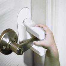 Дверной рычаг замок безопасности защита от детей двери 3 м клейкий Рычаг Ручка Детская безопасность замок совместим со стандартными дверные ручки