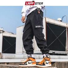 LAPPSTER Men Streetwear Joggers Pants 2019 Hip Hop Summer Ca
