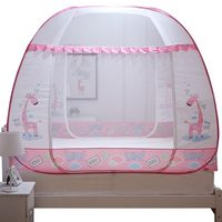 Bedroom Mosquito Net For Children Anti falling Mongolian Yurt Bad Net Tent Free Installation Three Door Mosquito Curtain Canopy