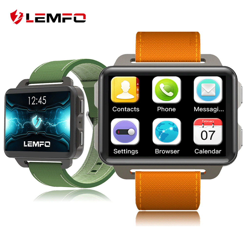 LEMFO LEM4 Pro Montre Smart Watch Hommes Android 5.1 Souper Grand Écran 1200 mah Au Lithium Batterie 1 gb + 16 gb wifi Prendre Vidéo Smartwatch