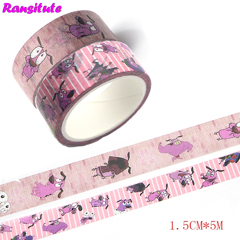 Ransitute R438  2pcs Cartoon Dog Children's Toys Washi Tape Traffic Tape Toy Car Decoration Hand Sticker