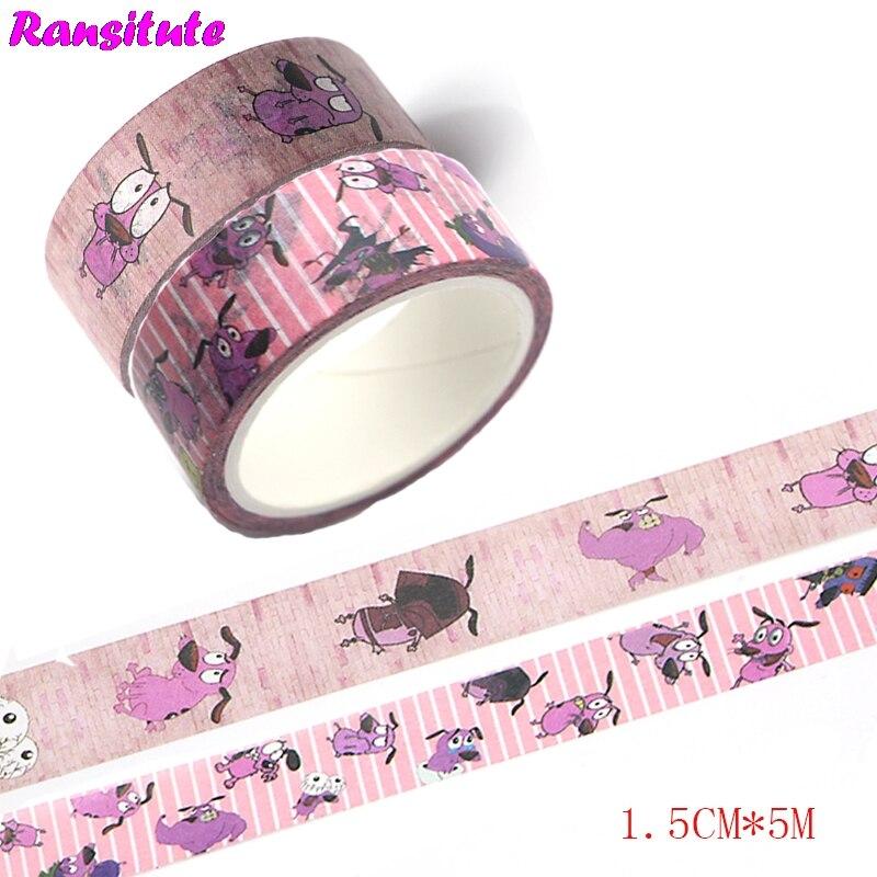 Ransitute R438  2pcs Cartoon Dog Children's Toys Washi Tape Traffic Tape Toy Car Decoration Hand Sticker