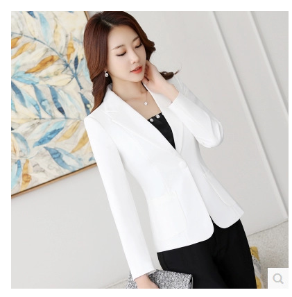 Ladies blazer casual office suit single button ladies business jacket 2019 new solid color slim solid color small suit