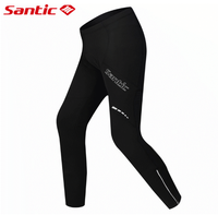 Santic Winter Paded Cycling Pants Warm Up Thermal Fleece MTB Bike Bicycle Pant Windproof Bicycle Cycling