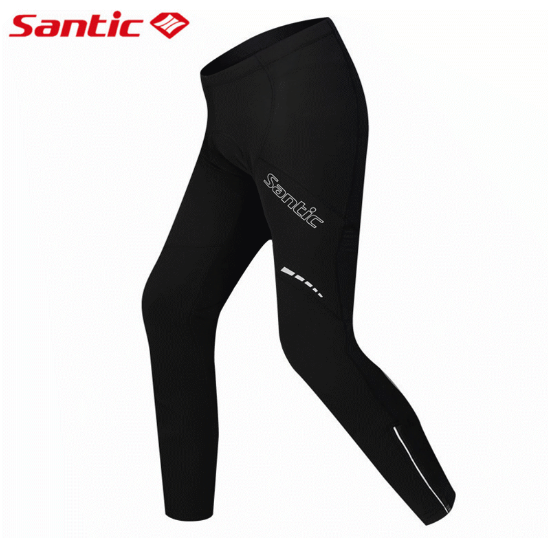 Santic Winter Paded Cycling Pants Warm Up Thermal Fleece MTB Bike Bicycle Pant Windproof Bicycle Cycling Windproof Racing Pants santic mtb cycling pants bicycle bike downhill pants women trainers cycling tight pants l5c05058p