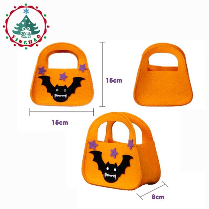 inhoo 2pcs Classic Bat ročne torbe bombonske torbe Halloween okrasne - Prazniki in zabave - Fotografija 3