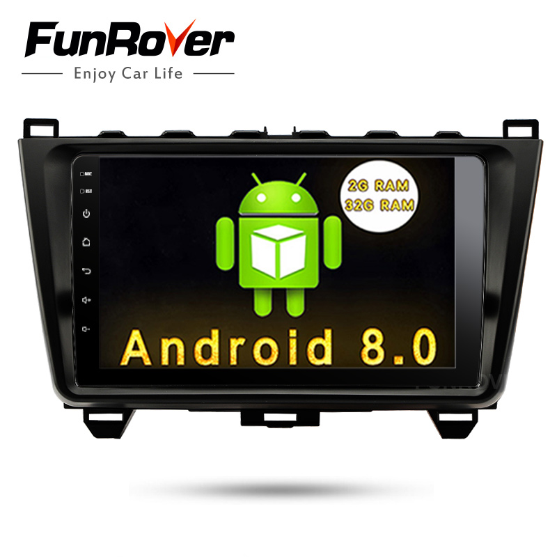 Funrover 8 cores Android 8.0 2 din CAR Multimedia radio player For MAZDA 6 Mazda6 Ultra 2008- 2015 stereo headunit gps navi wifi funrover ips 8 2 din android 8 0 car dvd player for kia sportage 2016 2017 kx5 gps navigation car stereo headunit wifi bt navi