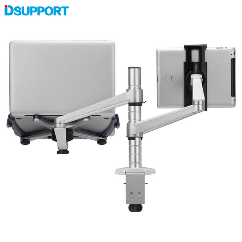 Free Shipping to Russia Only OA-9X  Dual Arm Laptop + Tablet PC Stand Holder For Laptop 10-15 inch and Tablet PC 7-10 inch free shipping lcd monitor holder laptop holder stand oa 7 for 10 15 inch notebook and within 25 inch lcd display