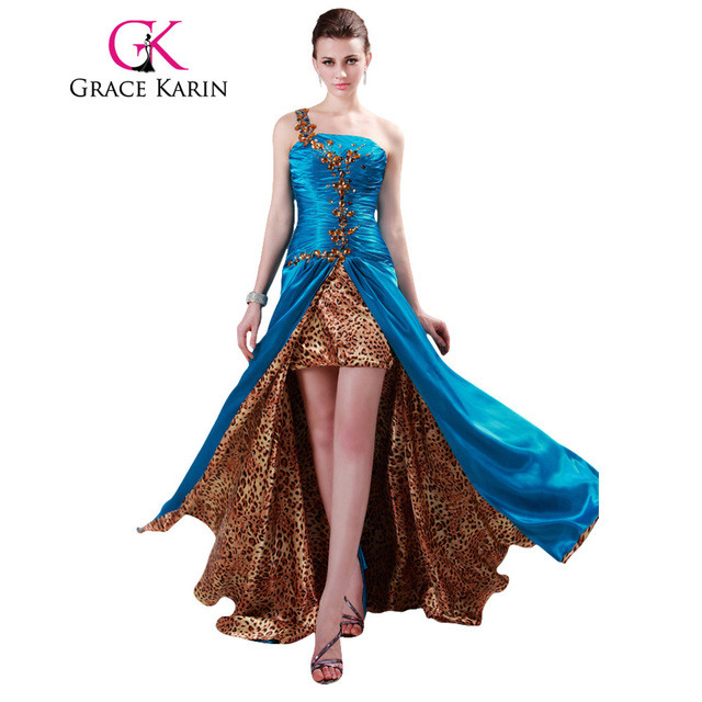 Grace Karin Prom Dress One shoulder Party Gowns High Split Long ...