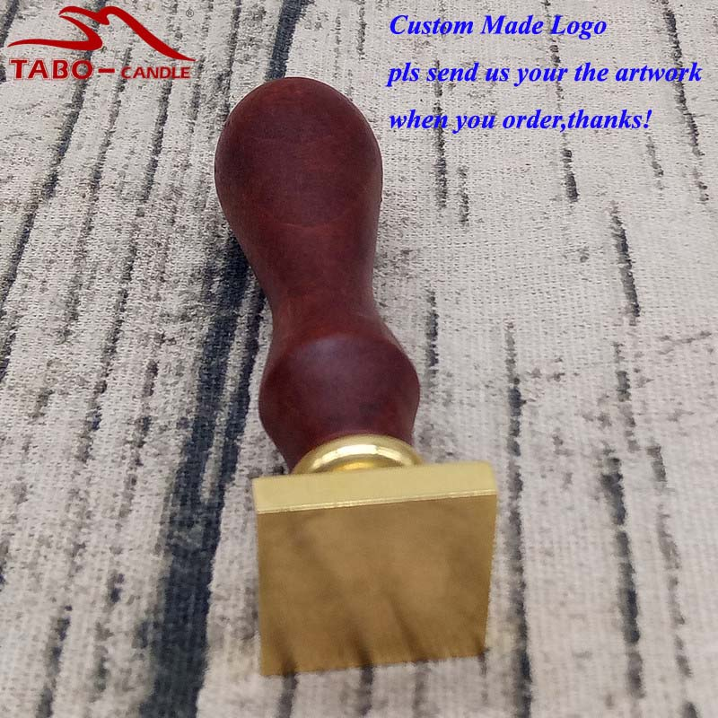 Rosewood Handle Custom Logo Made Square Sealing Wax Stamp for High-fashioned Packing Document Sealing By Free Shipping