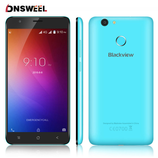 5.5inch HD Original Blackview E7 Smartphone MTK6737 Quad Core Cell phone 1GB RAM 16GB ROM Android 6.0 4G LTE GPS mobile phone