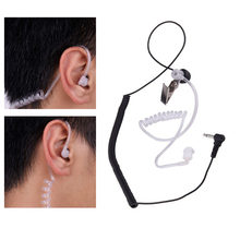 Ordinary 3.5mm Single Listen/Receive Only Covert Acoustic Tube Earpiece Headset For Two Way Radio Speaker Mic Microphone(China)