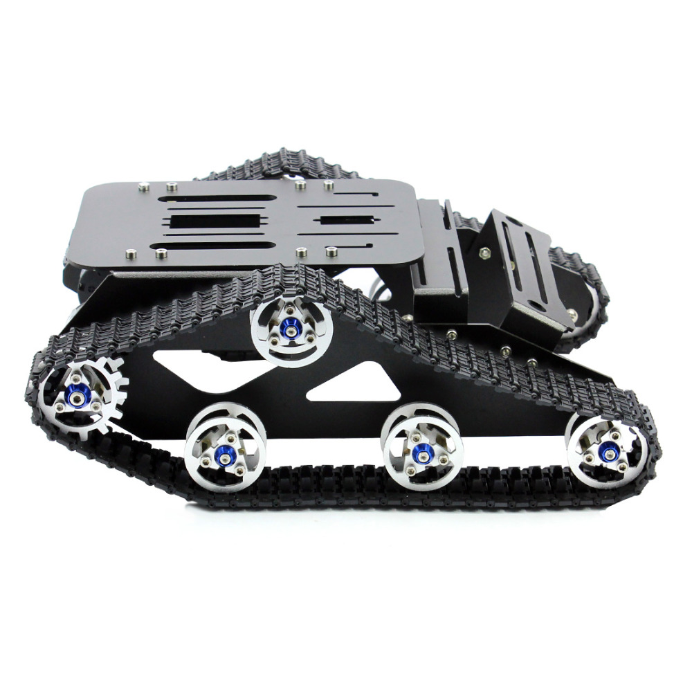 Feichao Smart Car Platform Tracked Robot Metal Aluminium Alloy Tank Chassis with Powerful Dual DC 12V Motor for DIY Assembled цена