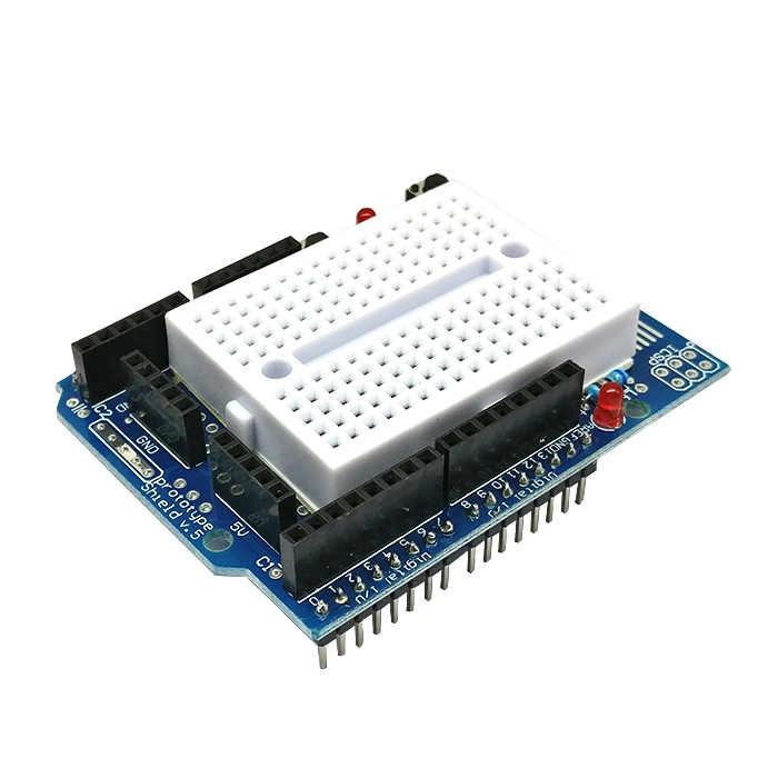 10 шт./лот UNO Прото Щит прототип пластина с мини макетной платой SYB-170 с подставкой для Arduino Unod