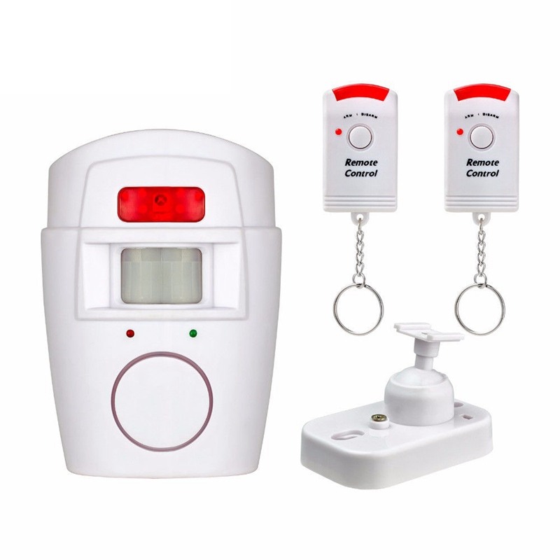 Wireless PIR Infrared Motion Sensor Detector Anti-Theft Burglar Alarm Security System With 2pcs Remote Controllers home alarm security system wireless pir infrared motion sensor detector with 2pcs remote controllers door window anti theft