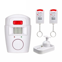 Wireless PIR Infrared Motion Sensor Detector Anti-Theft Burglar Alarm Security System With 2pcs Remote Controllers