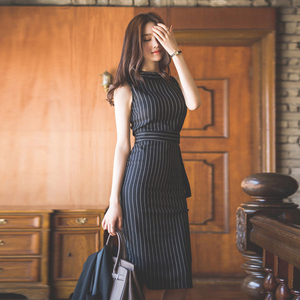 Image 4 - ลาย Office Lady ชุดทำงานผู้หญิง Slim เซ็กซี่ฤดูร้อนฤดูใบไม้ร่วงบรรจุ Hip แฟชั่น Vestido Mujer