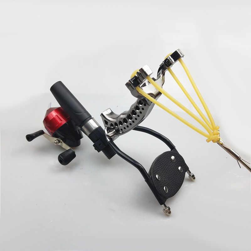 強力な多機能アーチェリー Bowfishing 撮影魚スリングカタパルトハンティング弓釣りスリングショット矢印キット
