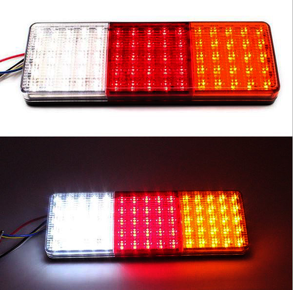 FREE SHIPPING Pair 12V 75 LED Rear Tail Indicator Stop Lights Taillight Truck Lamp E-Marked E4 free shipping custom truck graphic rear