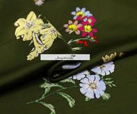 The Holiday Wind Big Orders Printing Ink Small Heavy Silk Cloth Summer Shirt Fabric