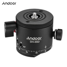 Andoer DH 55D Tripod Ballhead HDR Panorama Panoramic Ball Head with Indexing Rotator Aluminum Alloy Max. Load 15kg/33Lbs