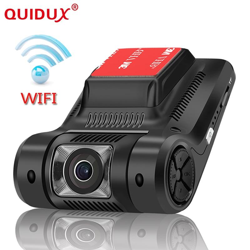 QUIDUX 2.45 inch Mini WIFI Dash Cam IPS LCD Novatek 96658 Sony IMX323 Full HD 1080P night vision Dashcam camera hidden Car DVRs
