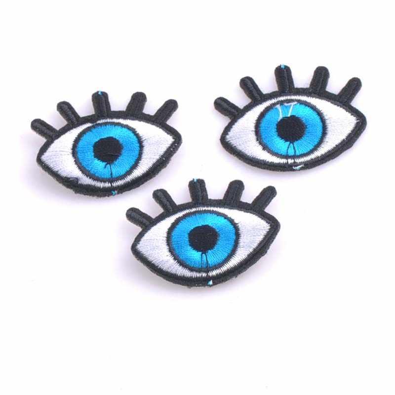 5ชิ้นแพทช์DIYชั่วร้ายตาแพทช์สำหรับเด็กเสื้อผ้าเย็บบนแพทช์ปักMotif A Pplique CP0917