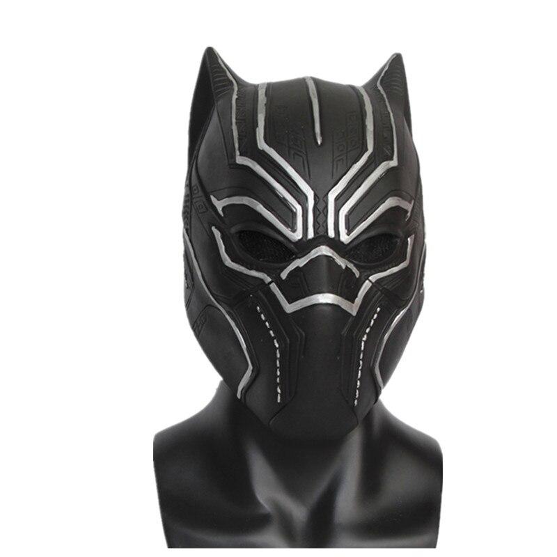 X-Frohe Spielzeug männer Captain America: Bürgerkrieg Schwarz Panther Voll Latex Maske Fantastische Vier Latex Maske freies Verschiffen