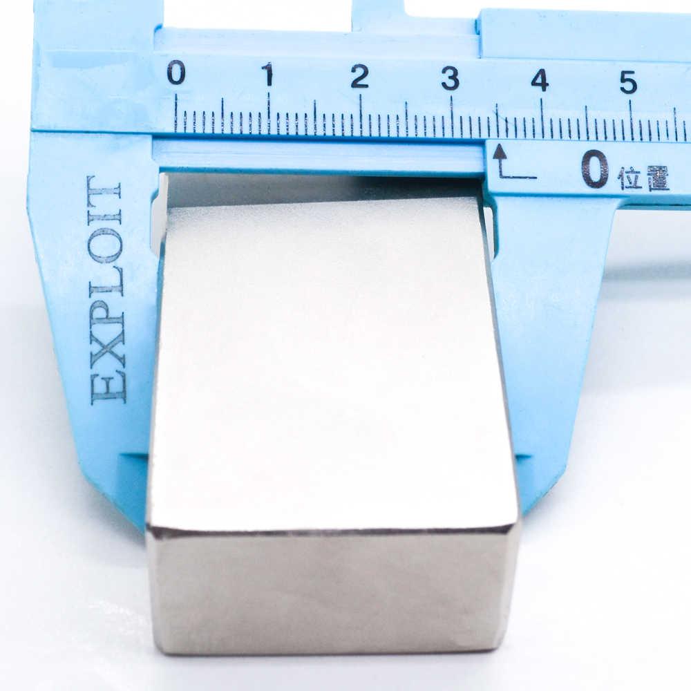 1/2 sztuk blok 75X35X20mm Super silny wysokiej jakości magnesy ziem rzadkich magnes neodymowy 75*35*20mm 75X35X20mm