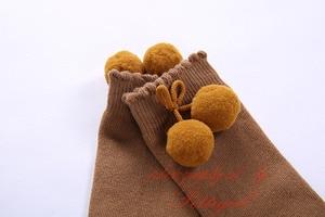 Image 5 - Pettigirl Fashionable Girl Socks Baby Ruffle Pom Sock High Knee Handmade Cute Kids Socks Boutique