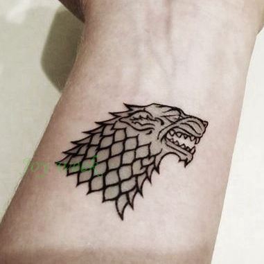 Waterproof Temporary Tattoo Sticker Game Of Thrones Wolf Dragon Snake Tatto Stickers Flash Tatoo Fake Tattoos For Men Women 4