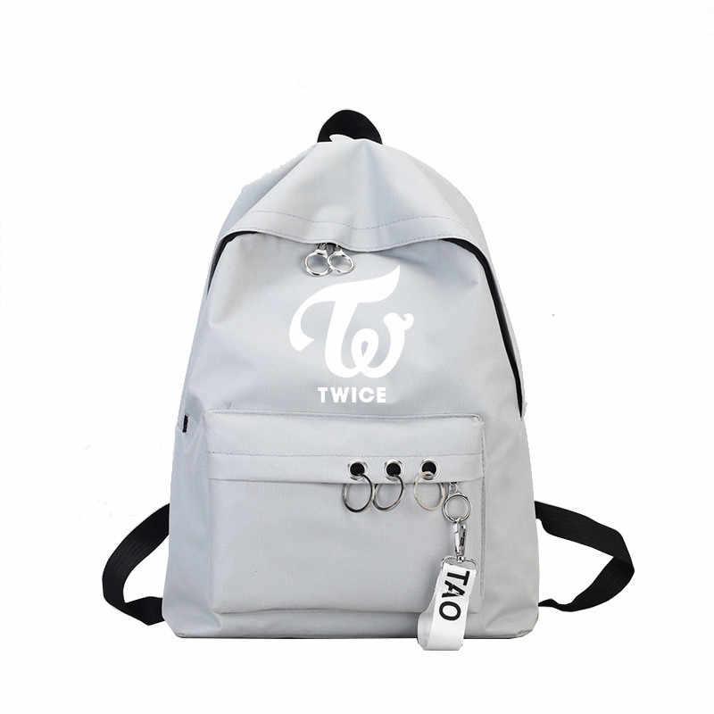 d110300180 ... Newest Lovely Bts Exo Got7 Backpack Women Wanna One Blackpink Monsta X  Twice Canvas School Travel ...