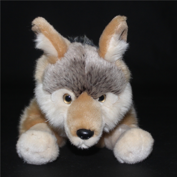 Simulation Children'S Toy Gift Coyote Doll Cute Prairie Wolf  Wildlife  Plush Toys  North American Wolves cute insect doll toy