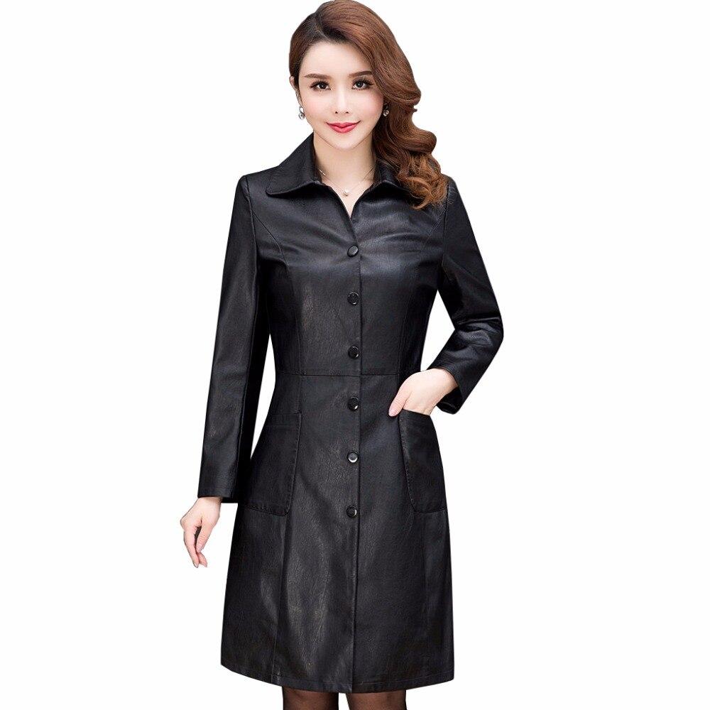 font b women s b font leather font b jackets b font coats 2017 Autumn