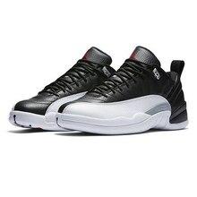 sports shoes 688bb d0167 Alta calidad Jordan 12 hombres zapatos de baloncesto bajo Playoff negro Ovo  blanco deporte al aire
