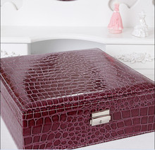 Continental Wooden jewelry boxes Interlocking Big jewelry storage box Dressing shipping 26.5cm*26.5cm*8.5cm