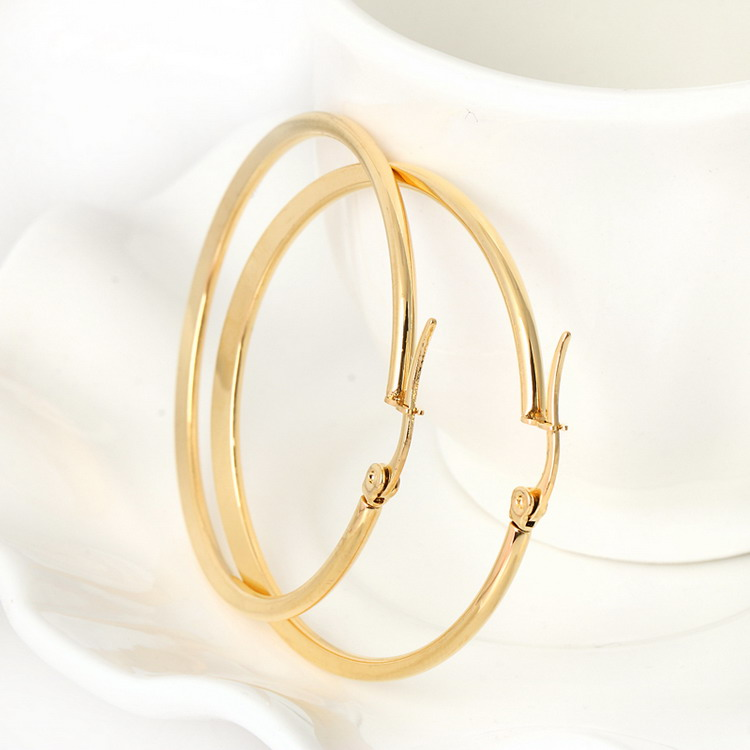 Gold Hoop Earrings Rose Yellow For Women Large Loop Circle Earring Fashion Jewelry In From