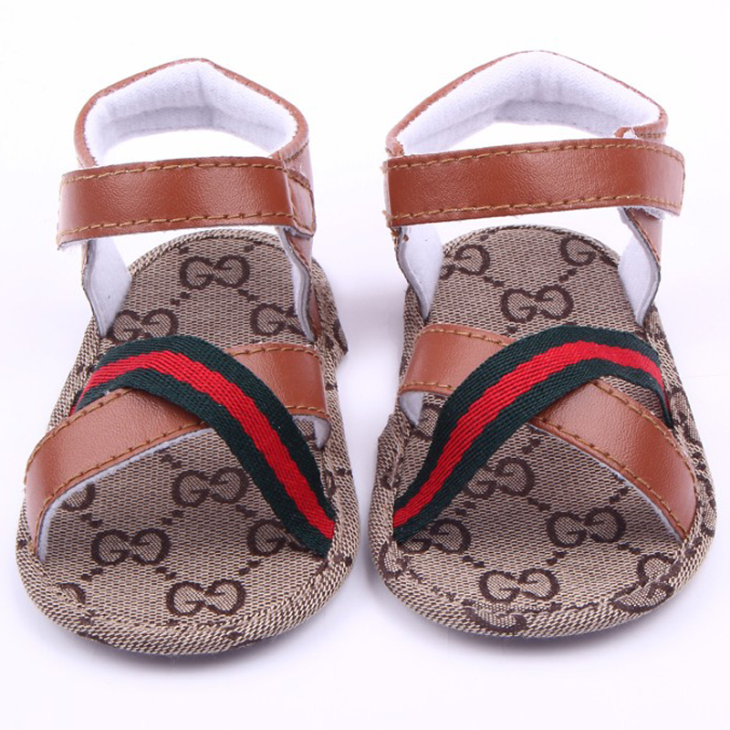 Summer Hot New Fashion Leather Soft Sole Baby Toddler Boy Sandals Shoes For 0-15M