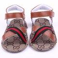 Verão Quente de Moda de Nova Couro Bebê Sola Macia Sandálias Do Menino Da Criança Sapatos Para 0-15 M