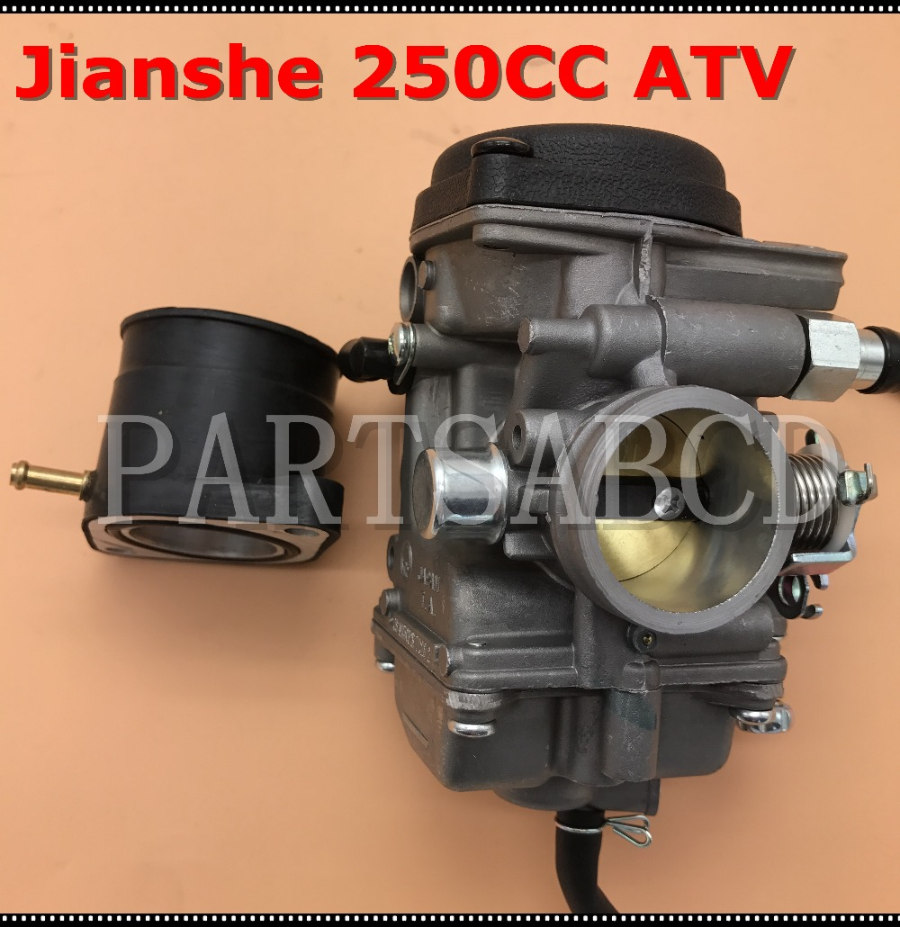 US $46 99 |30mm carburetor TK JIANSHE LONCIN BASHAN 250cc ATV QUAD ATV250  JS250 carburetor with Intake Manifold-in ATV Parts & Accessories from